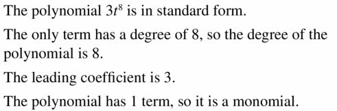Big Ideas Math Algebra 1 Answers Chapter 7 Polynomial Equations and Factoring 7.1 Question 17