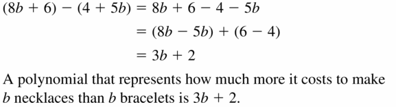 Big Ideas Math Algebra 1 Answers Chapter 7 Polynomial Equations and Factoring 7.1 Question 41