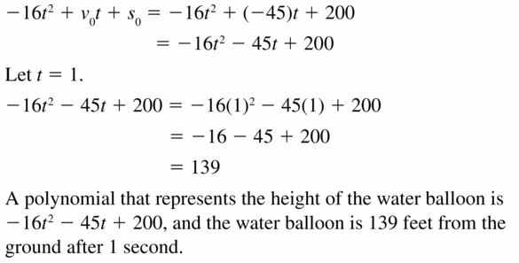 Big Ideas Math Algebra 1 Answers Chapter 7 Polynomial Equations and Factoring 7.1 Question 51