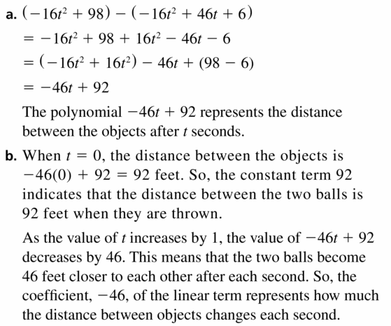 Big Ideas Math Algebra 1 Answers Chapter 7 Polynomial Equations and Factoring 7.1 Question 53