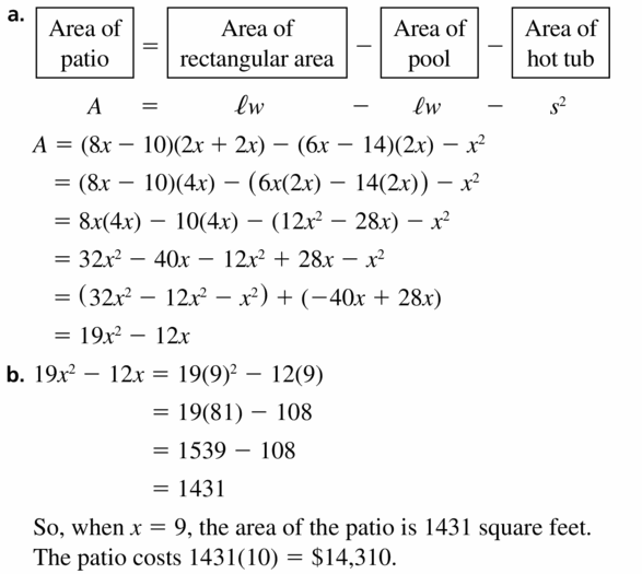 Big Ideas Math Algebra 1 Answers Chapter 7 Polynomial Equations and Factoring 7.1 Question 61