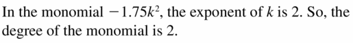 Big Ideas Math Algebra 1 Answers Chapter 7 Polynomial Equations and Factoring 7.1 Question 7