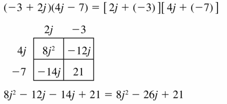 Big Ideas Math Algebra 1 Answers Chapter 7 Polynomial Equations and Factoring 7.2 Question 17