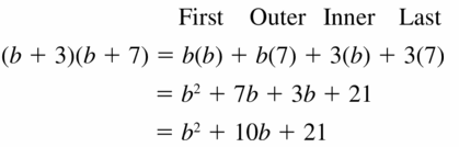 Big Ideas Math Algebra 1 Answers Chapter 7 Polynomial Equations and Factoring 7.2 Question 21