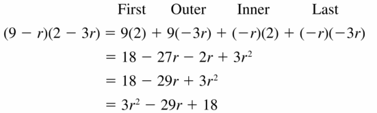 Big Ideas Math Algebra 1 Answers Chapter 7 Polynomial Equations and Factoring 7.2 Question 27