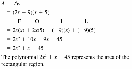 Big Ideas Math Algebra 1 Answers Chapter 7 Polynomial Equations and Factoring 7.2 Question 31