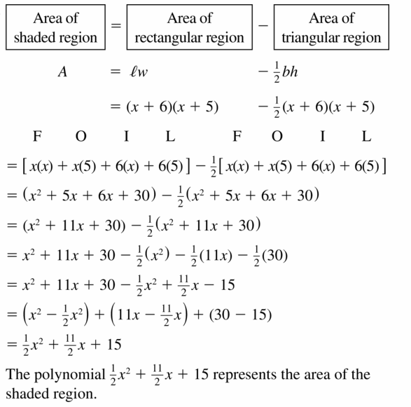 Big Ideas Math Algebra 1 Answers Chapter 7 Polynomial Equations and Factoring 7.2 Question 33