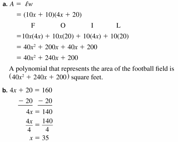 Big Ideas Math Algebra 1 Answers Chapter 7 Polynomial Equations and Factoring 7.2 Question 43.1