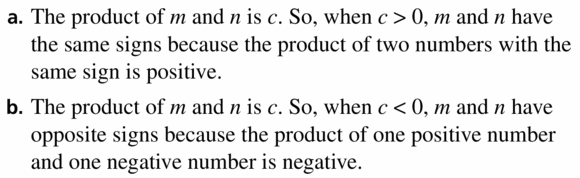 Big Ideas Math Algebra 1 Answers Chapter 7 Polynomial Equations and Factoring 7.2 Question 51
