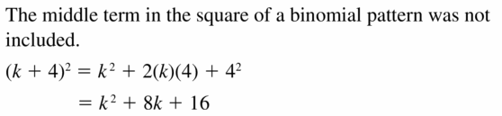 Big Ideas Math Algebra 1 Answers Chapter 7 Polynomial Equations and Factoring 7.3 Question 31