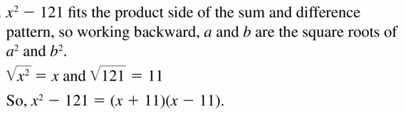 Big Ideas Math Algebra 1 Answers Chapter 7 Polynomial Equations and Factoring 7.3 Question 37