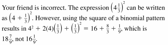 Big Ideas Math Algebra 1 Answers Chapter 7 Polynomial Equations and Factoring 7.3 Question 43