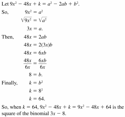 Big Ideas Math Algebra 1 Answers Chapter 7 Polynomial Equations and Factoring 7.3 Question 45