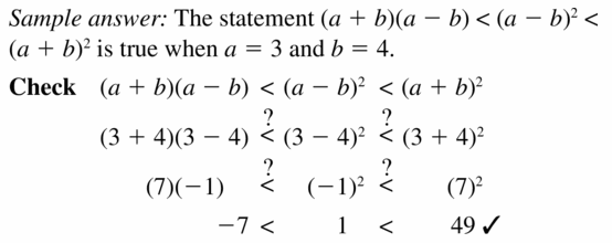 Big Ideas Math Algebra 1 Answers Chapter 7 Polynomial Equations and Factoring 7.3 Question 47