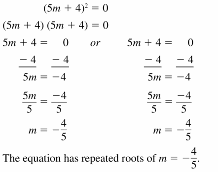 Big Ideas Math Algebra 1 Answers Chapter 7 Polynomial Equations and Factoring 7.4 Question 11