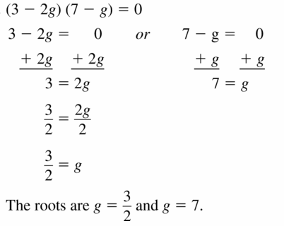 Big Ideas Math Algebra 1 Answers Chapter 7 Polynomial Equations and Factoring 7.4 Question 13