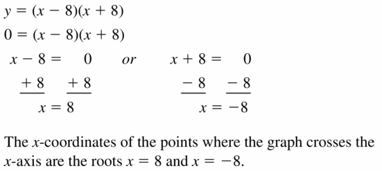 Big Ideas Math Algebra 1 Answers Chapter 7 Polynomial Equations and Factoring 7.4 Question 21