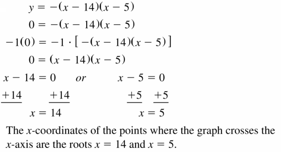 Big Ideas Math Algebra 1 Answers Chapter 7 Polynomial Equations and Factoring 7.4 Question 23