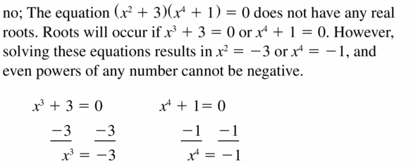 Big Ideas Math Algebra 1 Answers Chapter 7 Polynomial Equations and Factoring 7.4 Question 45