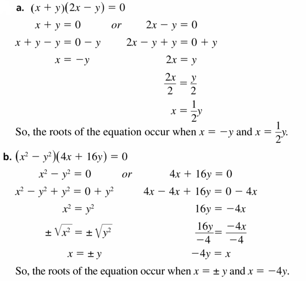 Big Ideas Math Algebra 1 Answers Chapter 7 Polynomial Equations and Factoring 7.4 Question 47