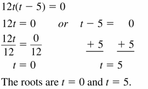 Big Ideas Math Algebra 1 Answers Chapter 7 Polynomial Equations and Factoring 7.4 Question 5