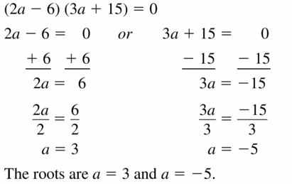 Big Ideas Math Algebra 1 Answers Chapter 7 Polynomial Equations and Factoring 7.4 Question 9