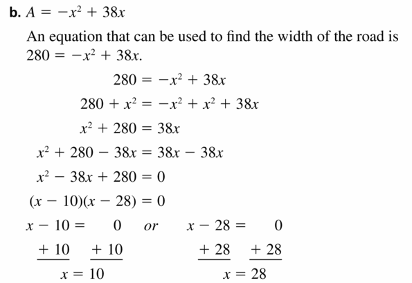 Big Ideas Math Algebra 1 Answers Chapter 7 Polynomial Equations and Factoring 7.5 Question 47.2