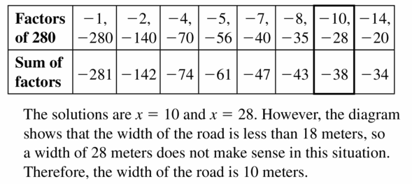 Big Ideas Math Algebra 1 Answers Chapter 7 Polynomial Equations and Factoring 7.5 Question 47.3