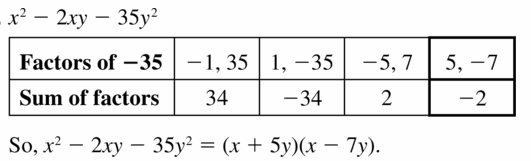 Big Ideas Math Algebra 1 Answers Chapter 7 Polynomial Equations and Factoring 7.5 Question 51