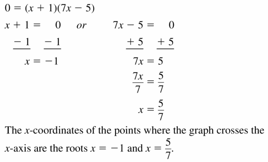 Big Ideas Math Algebra 1 Answers Chapter 7 Polynomial Equations and Factoring 7.6 Question 31.2