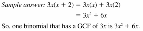 Big Ideas Math Algebra 1 Answers Chapter 7 Polynomial Equations and Factoring 7.6 Question 37