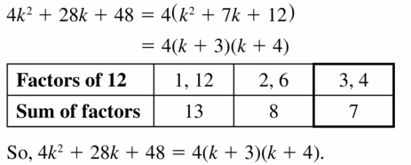 Big Ideas Math Algebra 1 Answers Chapter 7 Polynomial Equations and Factoring 7.6 Question 5