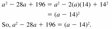 Big Ideas Math Algebra 1 Answers Chapter 7 Polynomial Equations and Factoring 7.7 Question 19