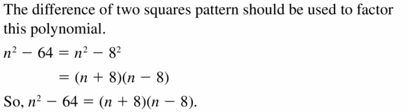 Big Ideas Math Algebra 1 Answers Chapter 7 Polynomial Equations and Factoring 7.7 Question 23