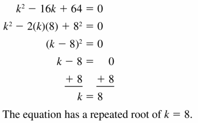 Big Ideas Math Algebra 1 Answers Chapter 7 Polynomial Equations and Factoring 7.7 Question 29