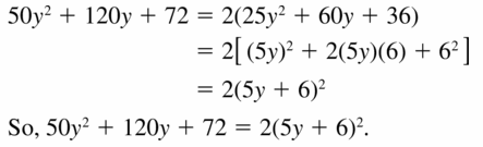 Big Ideas Math Algebra 1 Answers Chapter 7 Polynomial Equations and Factoring 7.7 Question 39