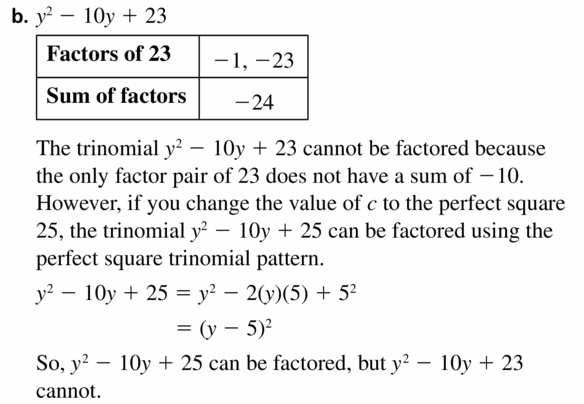 Big Ideas Math Algebra 1 Answers Chapter 7 Polynomial Equations and Factoring 7.7 Question 43.2