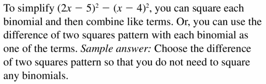 Big Ideas Math Algebra 1 Answers Chapter 7 Polynomial Equations and Factoring 7.7 Question 45
