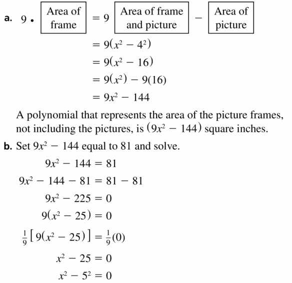 Big Ideas Math Algebra 1 Answers Chapter 7 Polynomial Equations and Factoring 7.7 Question 47.1