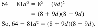 Big Ideas Math Algebra 1 Answers Chapter 7 Polynomial Equations and Factoring 7.7 Question 5