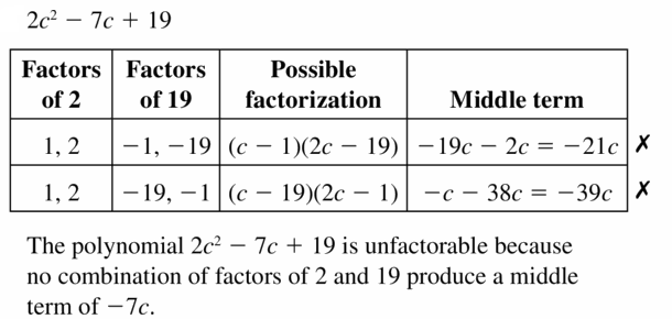 Big Ideas Math Algebra 1 Answers Chapter 7 Polynomial Equations and Factoring 7.8 Question 13