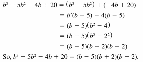 Big Ideas Math Algebra 1 Answers Chapter 7 Polynomial Equations and Factoring 7.8 Question 21