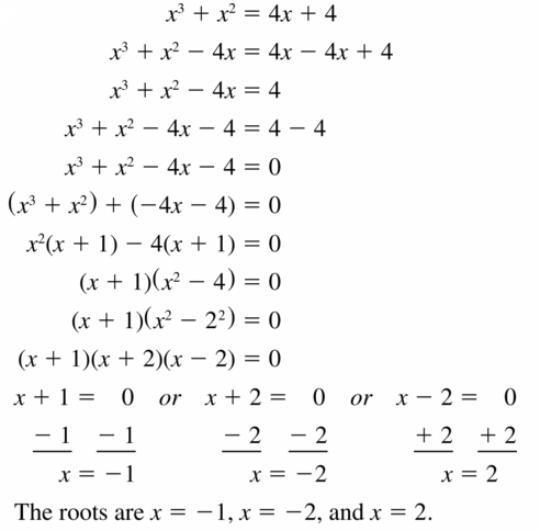 Big Ideas Math Algebra 1 Answers Chapter 7 Polynomial Equations and Factoring 7.8 Question 25