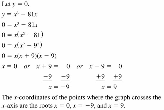 Big Ideas Math Algebra 1 Answers Chapter 7 Polynomial Equations and Factoring 7.8 Question 29
