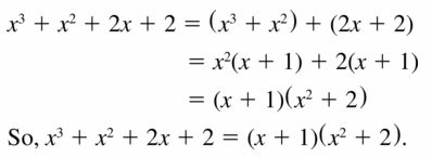 Big Ideas Math Algebra 1 Answers Chapter 7 Polynomial Equations and Factoring 7.8 Question 3