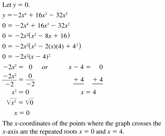 Big Ideas Math Algebra 1 Answers Chapter 7 Polynomial Equations and Factoring 7.8 Question 31