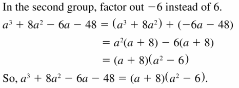 Big Ideas Math Algebra 1 Answers Chapter 7 Polynomial Equations and Factoring 7.8 Question 33