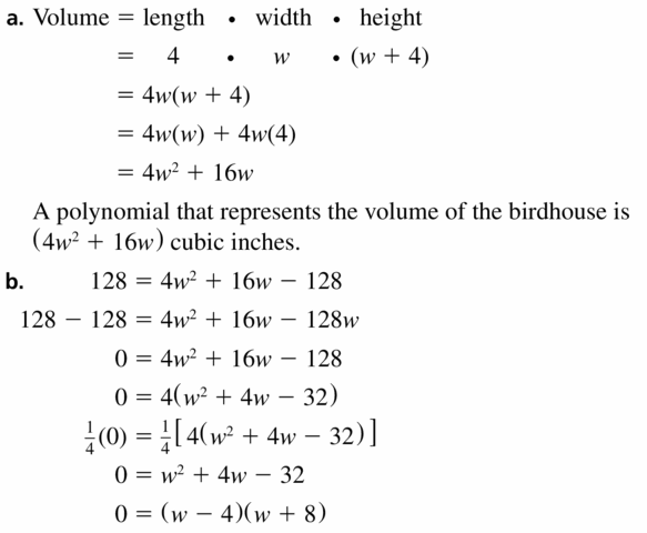 Big Ideas Math Algebra 1 Answers Chapter 7 Polynomial Equations and Factoring 7.8 Question 35.1