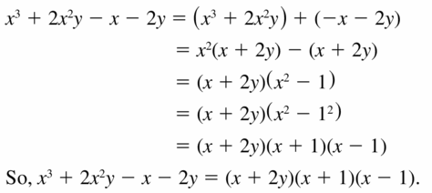 Big Ideas Math Algebra 1 Answers Chapter 7 Polynomial Equations and Factoring 7.8 Question 37