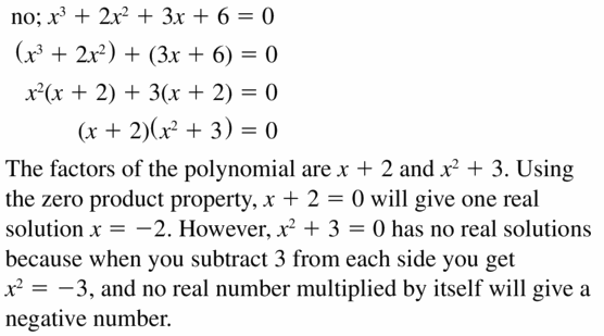 Big Ideas Math Algebra 1 Answers Chapter 7 Polynomial Equations and Factoring 7.8 Question 41